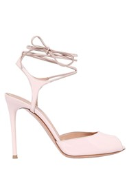 Gianvito Rossi 100Mm Patent Leather Lace Up Sandals