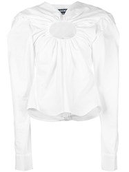Jacquemus Chest Hole Blouse White