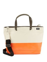 Jack Spade Dipped Industrial Colorblocked Tote Bag Khaki Blue
