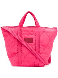 See By Chloe Quilted Tote Pink And Purple