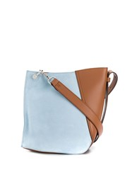 Lanvin Small Two Toned Hook Bag Blue