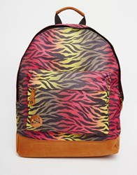 Mi Pac Backpack In Zebra Print Hot Zebra Rainbow Multi