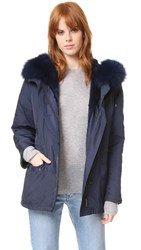 Army By Yves Salomon Classic Short Parka With Fur Atlantic