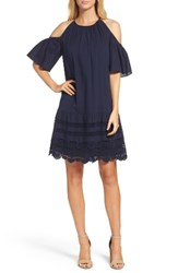 Maggy London Women's Cold Shoulder Swing Dress Navy