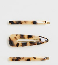 Orelia Exclusive Resin Hair Slide And Clip Pack Gold