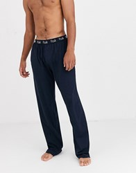 French Connection Tall Waistband Lounge Pants Navy