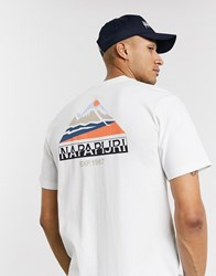 Napapijri Sole Graphic T Shirt In White