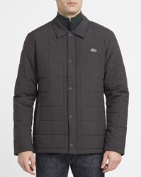 Lacoste Grey Small Collar Quilted Jacket