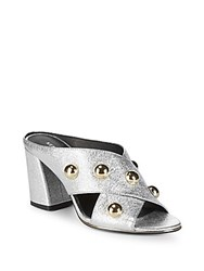 Kenneth Cole Lorri Block Heel Mules Grey