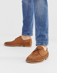Office Lambeth Woven Lace Up Shoes In Tan Leather
