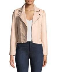 Baandsh Etty Leather Biker Jacket Pink