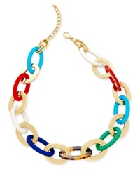 Charter Club Gold Tone Multicolor Chain Link Necklace Only At Macy's