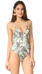 Minkpink Shady Fronds One Piece Swimsuit Tropical