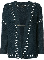 Isabel Marant Stitch Detail Knitted Cardigan Green