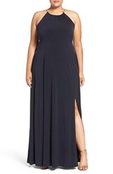 Michael Michael Kors Plus Size Women's Braided Chain Halter Maxi Dress