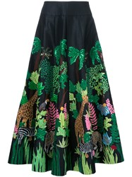 Manish Arora Safari Long Skirt Black