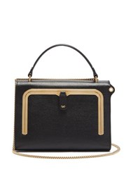 Anya Hindmarch Postbox Small Grained Leather Cross Body Bag Black