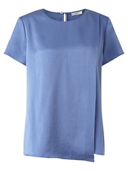Jigsaw Silk Satin T Shirt Iris Blue