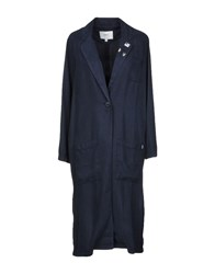 Obey Overcoats Dark Blue