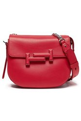 Tod's Woman Two Tone Leather Shoulder Bag Red
