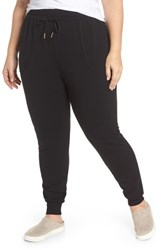Caslon Plus Size Women's Knit Jogger Pants Black