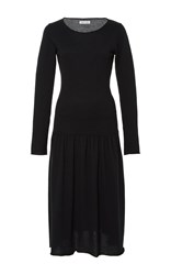 Tomas Maier Cashmere Long Sleeve Knit Dress Black