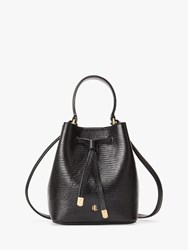 Ralph Lauren Dryden Debby Small Leather Bucket Bag Black