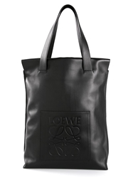 Loewe Embossed Logo Shoulder Bag Black