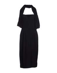 Blue Les Copains Knee Length Dresses Black