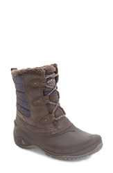 The North Face Women's Shellista Ii Waterproof Boot Dark Gull Grey Cloud Grey