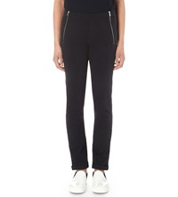 The Kooples Zip Detail Stretch Cotton Jogging Bottoms Dark Navy