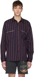 Fear Of God Navy Oversized Piped Shirt