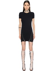 Dsquared Lace Up Stretch Cady Dress