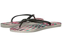 Havaianas Slim Tribal Flip Flops White Black Pink Women's Sandals