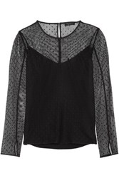 Rag And Bone Charlotte Point D'esprit Top Black