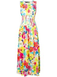 Love Moschino Floral Fitted Dress White