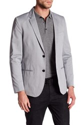 Kenneth Cole Gray Sharkskin Two Button Notched Lapel Blazer