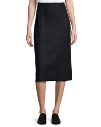 The Row Herin Pencil Midi Skirt Navy