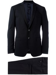 Tonello Notched Lapel Suit Black