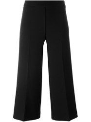 P.A.R.O.S.H. Flared Cropped Trousers Black