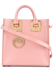 Sophie Hulme Mini 'Albion' Tote Bag Women Calf Leather One Size Pink Purple