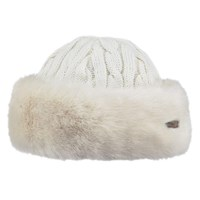 Barts Faux Fur Band Cable Knit Hat White