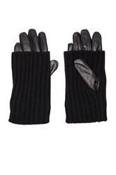 525 America Leather Convertible Glove Black