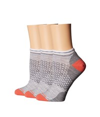 Smartwool Forfeit Micro 3 Pack Light Gray Heather Women's Crew Cut Socks Shoes