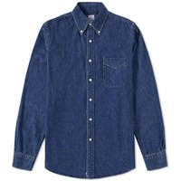 Orslow Button Down Denim Shirt Blue