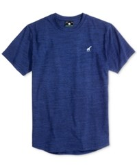 Lrg Men's Sportive Space Dyed Graphic Print Logo Cotton T Shirt Navy Heather