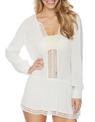 Athena Willow Cotton Crochet Tunic White