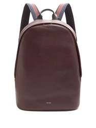 Paul Smith City Webbing Leather Backpack Burgundy