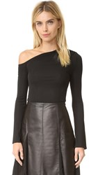 Yigal Azrouel One Shoulder Top Black