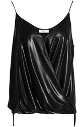 Bailey 44 Wrap Effect Coated Woven Camisole Black